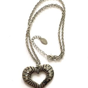 GUESS HEART Necklace Silver